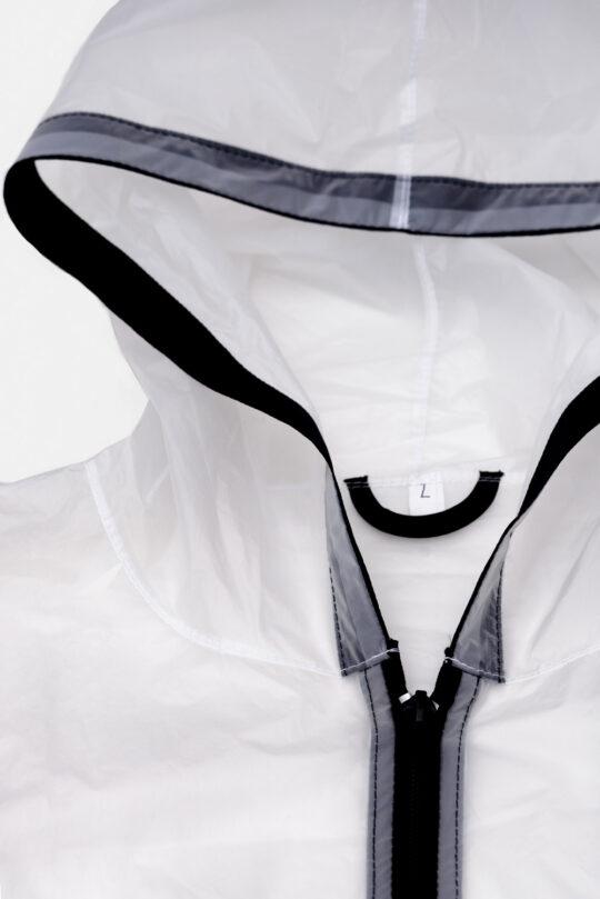 Capa de Chuva Branca Debrum Preto Atacado